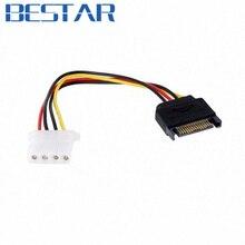 Série ATA SATA II 15 broches à disque dur 4 broches IDE alimentation câble adaptateur sata IDE à SATA adaptateur connecteur