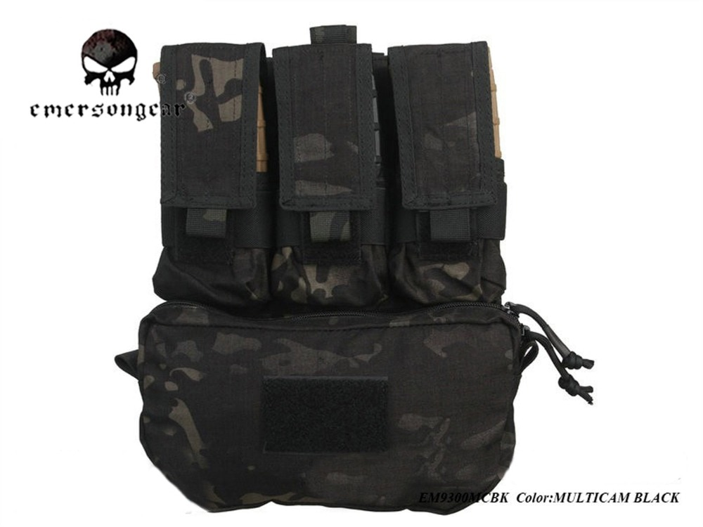 EmersonGear 2017, paquete de Panel trasero de asalto 500D, bolsas militares EM9300