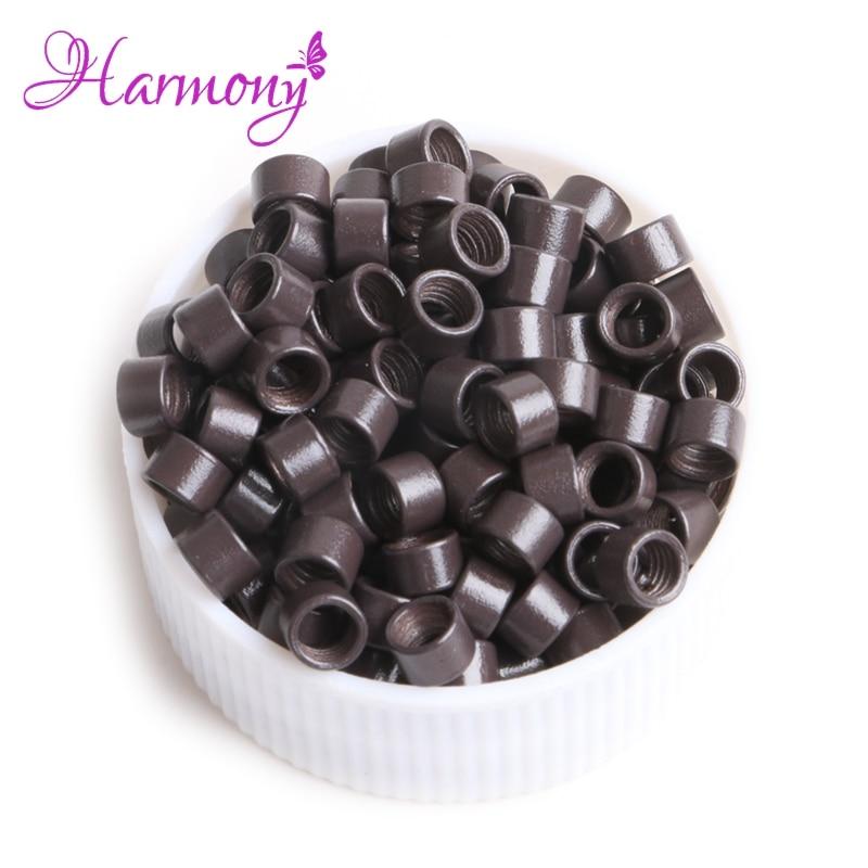 4 garrafas/lote parafuso micro anéis 3.5*2.0*2.0mm dreadlock grânulos de parafuso do medo para extensões de cabelo