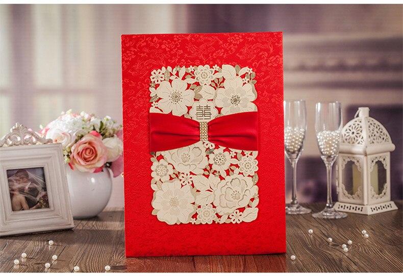 Libro de invitados de boda rojo y dorado cortado con láser para fiesta de boda/compromiso/Decoración de fiesta de aniversario