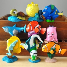 9pcs/lot 5cm Nemo Action Figures Toys Clownfish Marlin Doll PVC Garage Kit Toys Kids Brinquedos