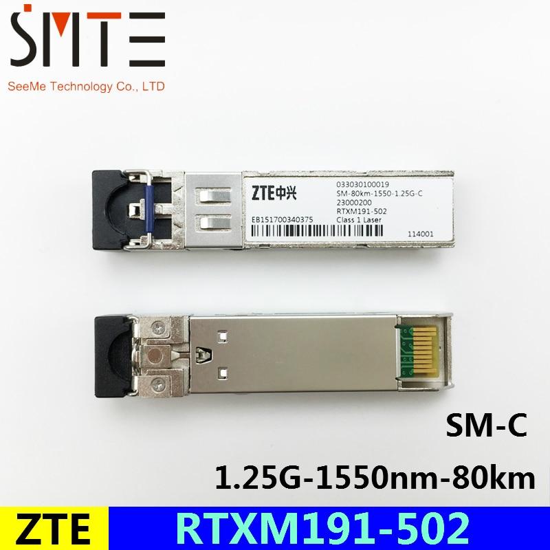 ZTE RTXM191-502 SM-80km-1550-1.25G-C 033030100019 الألياف البصرية الإرسال والاستقبال