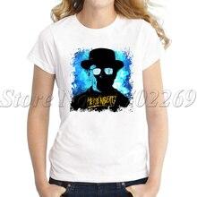 T-shirt manches courtes femme blanc, hipster, cool, imprimé, Breaking Bad, heisberg