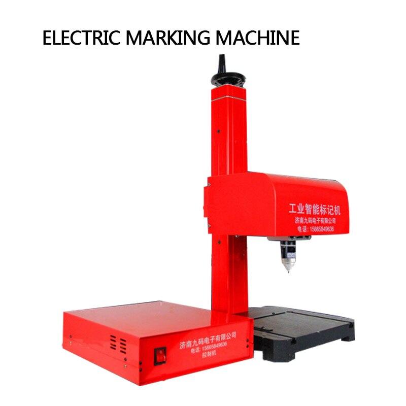 220 فولت الفولاذ المقاوم للصدأ الهوائية لوحة ماكينة وضع علامات معدنية ماكينة ترميز الإطار طابعة حروف