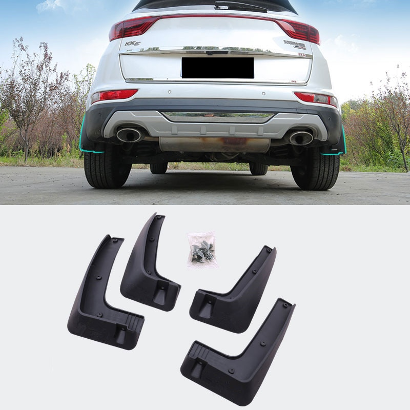 Jameo Auto 4 unids/set ABS guardabarros de coche, guardabarros, guardabarros para KIA Sportage Kx5 QL 2016 2017 2018, accesorios