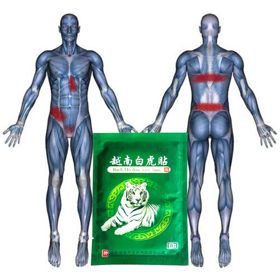 O efeito Analgésico forte 32 Pcs/4 sacos Vietnam Tigre Branco Ombro Alívio Da Dor Da Artrite Reumatismo Gesso Conjunta Cintura Na Altura Do Joelho dor