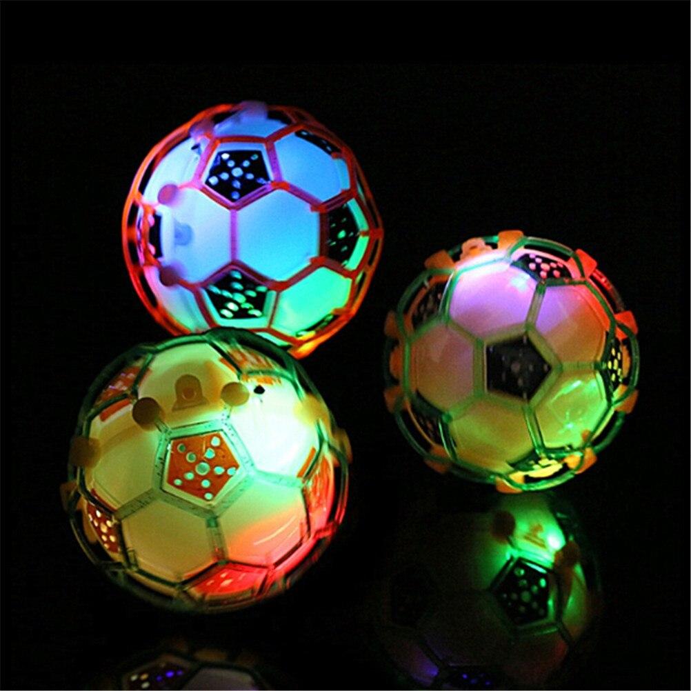 Juguetes Divertidos para niños, juguetes de pelota de salto con luz LED para niños, regalos para niños, música loca, pelota de fútbol que rebota, Bola de baile bonita