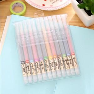 12PCS DIANSHI PK5000 Fiber Pen Color Gel Pen