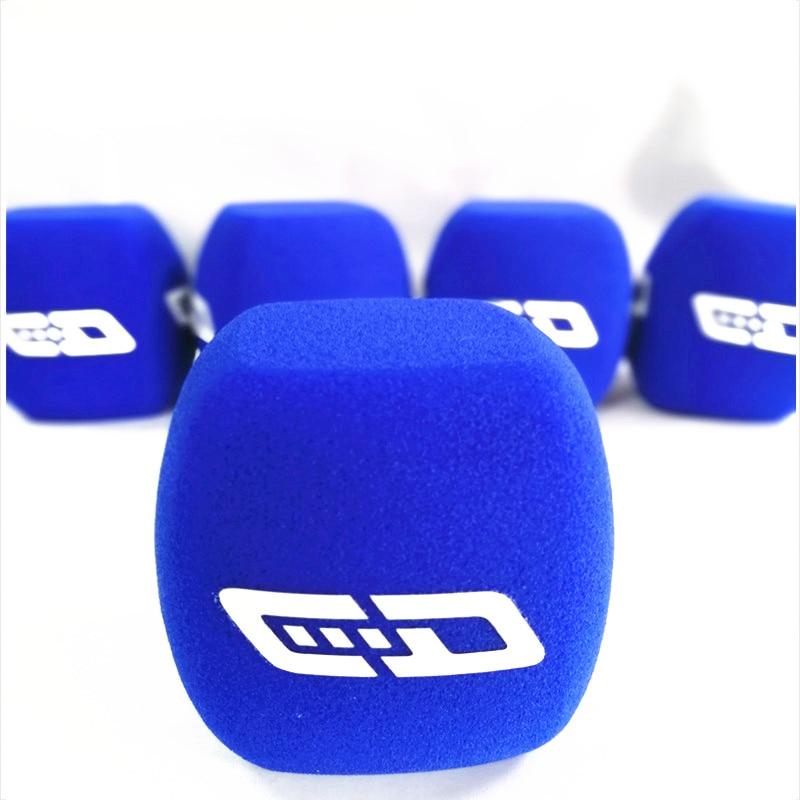 Linhuipad Broadcast micrófono de espuma esponja parabrisas Mic cubierta parabrisas para micrófono de entrevistas de mano 4cm de diámetro