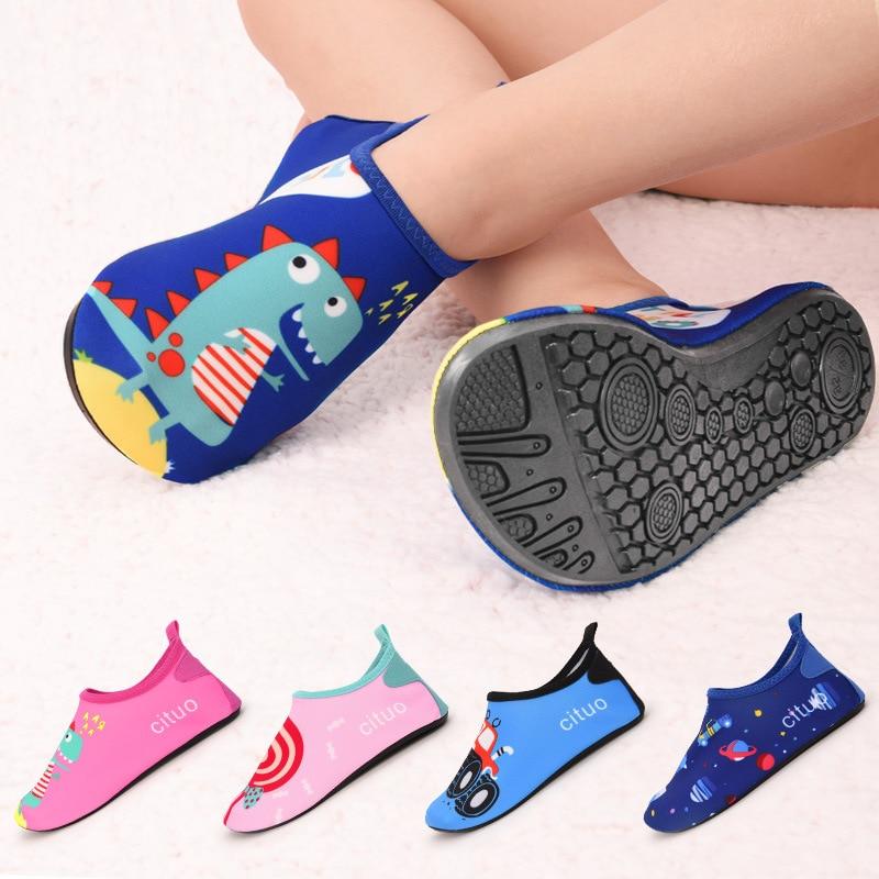 Children Beach Shoes Baby Soft Floor Indoor Slipper Snorkeling Swim Socks Boys And Girls Anti-slip H