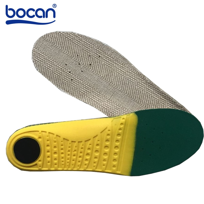 bocan insoles shoes pad sweat absorbing shock absorption breathable comfortable for men and women shoes insoles Bocan Insoles for shoes shock absorptions orthopedic insoles Light Weight breathable insoles for men women