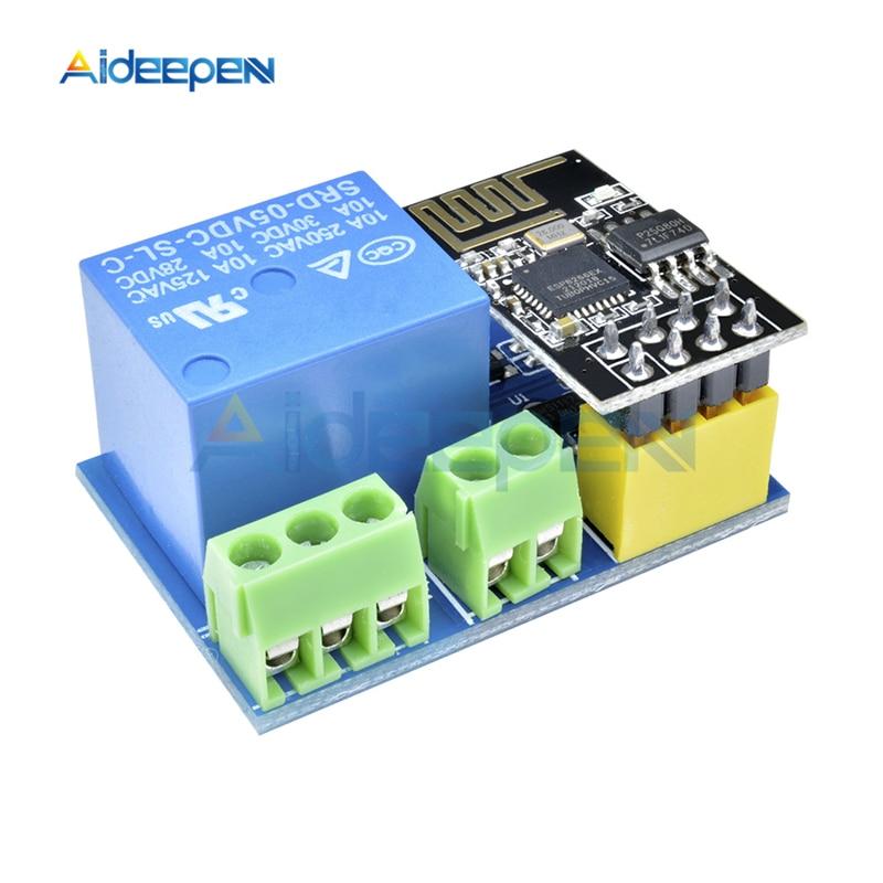 1 Uds. ESP8266 ESP-01S 1 canal Wifi inalámbrico relé módulo DC 5V Control remoto App interruptor para Arduino DIY inteligente Wifi en casa módulo