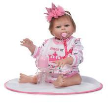 Nouveauté 50cm pleine Silicone corps Reborn bébés poupée jouets nouveau-né fille bébé poupée enfants cadeau danniversaire bain jouet