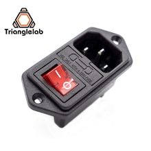 1 шт. Запчасти для 3D-принтера Trianglelab 10A 250 В 3 в 1 предохранитель выключатель питания AC Розетка для RepRap I3 для TEVO