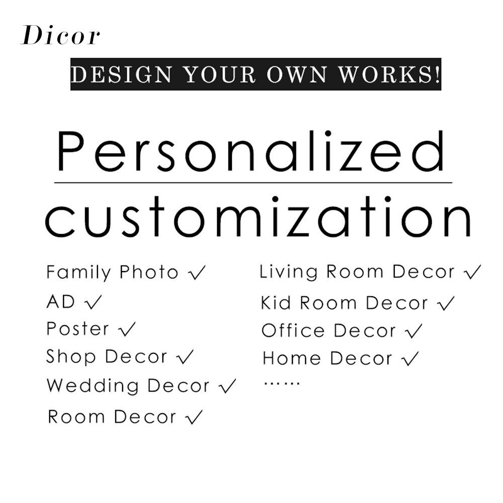 DICOR foto familiar AD Poster tienda decoración tamaño personalizado película de vidrio/pegatina de pared