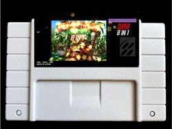 Super 8 em 1/DKC123/Bandido Barrage/Kremlins Revenge/The Lost Levels/Competição Cartucho para 46 pinos console NTSC