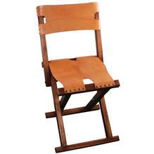 Leichte, Tragbare Holz Klappstuhl Mit Leder Sitz & Rückenlehne Für Indoor/Outdoor Möbel Camping Angeln Stuhl Foldble