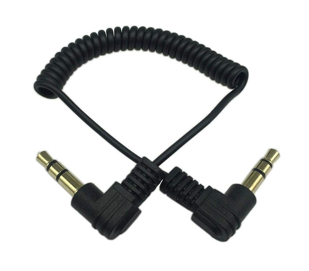 90 grados 3,5mm 3 polos macho a macho auriculares estéreo Audio AUX Mini muelle espiral en espiral extensión de adaptador y conversor Cable