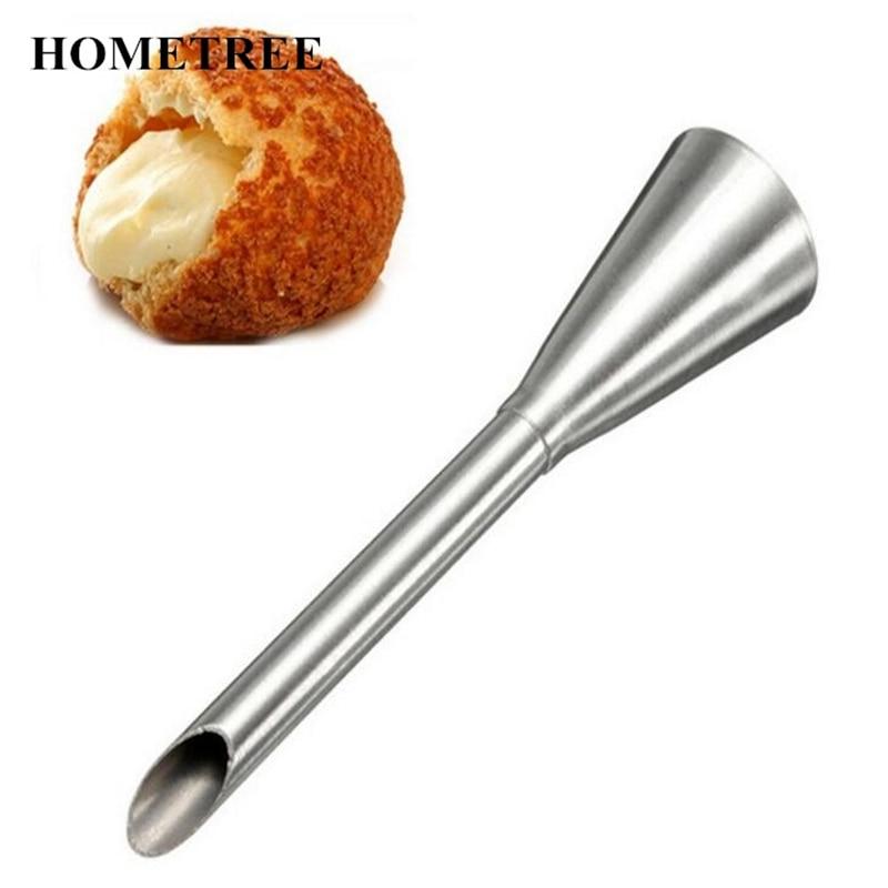 Boquilla para Punta de pastelería HOMETREE 1 Uds., decoración de crema de relleno de acero inoxidable, utensilio de cocina de extrusión de flor para repostería H824