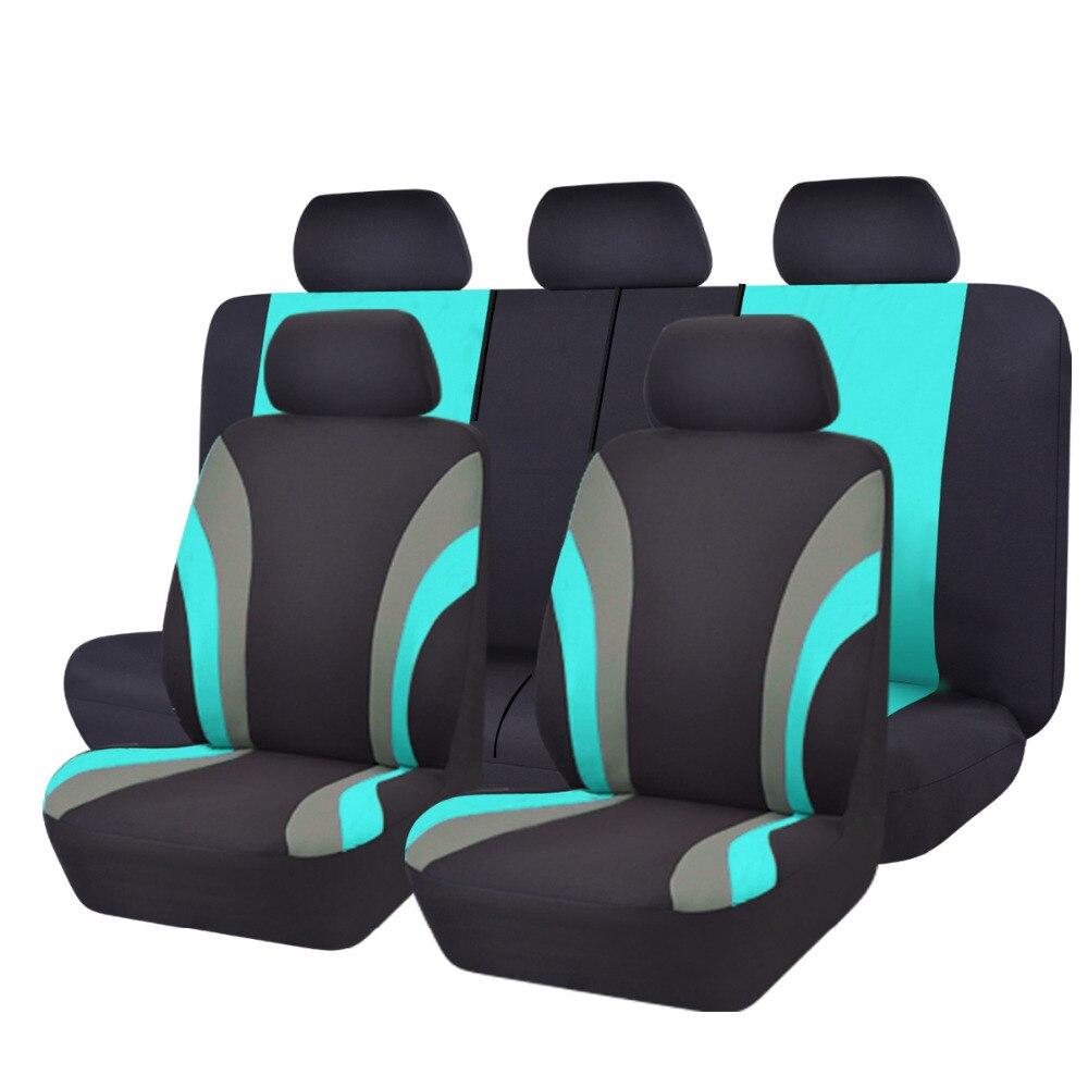 Fundas para asiento de coche de tela de malla cubierta universal de asiento de coche de Color verde con protector para volante de coche apto para lada ford