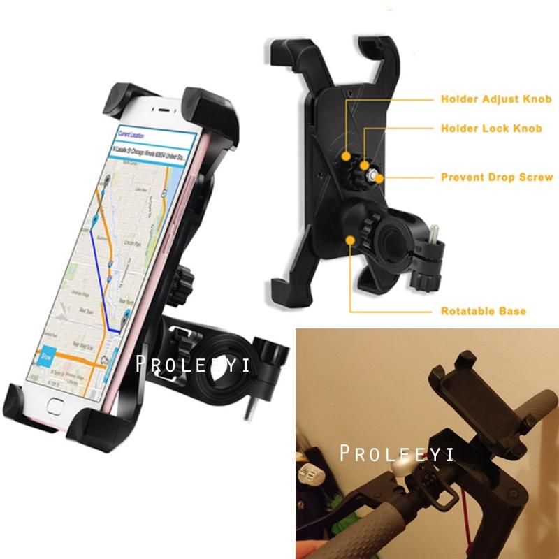 Soporte GPS para teléfono con manillar para Xiaomi Mijia M365 MI Bird Spin Scooter Eléctrico para motocicleta Ninebot Es1 Kickscooter