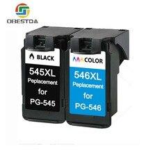 Obestda PG545 CL546 XL cartouches dencre de remplacement pour Canon PG-545 pg 545 CL-546 pour Canon IP2850 MX495 MG2950 MG2550 MG2450
