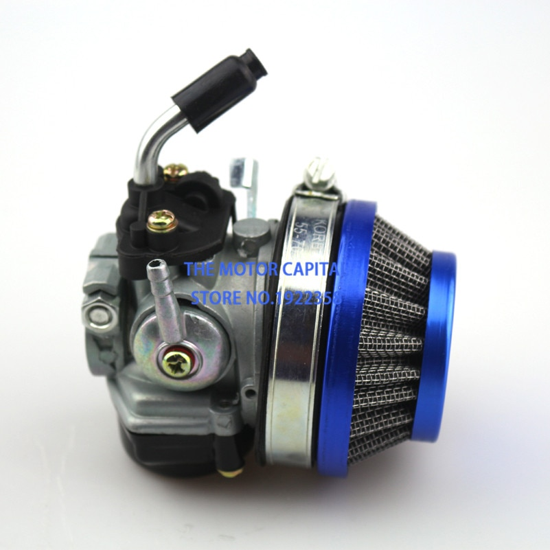 Azul de carburador de filtro de aire de carbohidratos para 49cc 50cc 60 66 80cc 2 tiempos Bicicleta Motorizada bicicleta mini bicicleta atv envío gratis