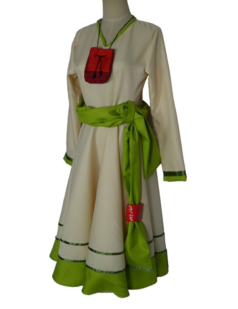 Spice e lobo dos desenhos animados cosplay roupas horo cos trajes vestido para meninas vestido feminino + cinto + saco pequeno