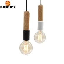 Простой креативный современный деревянный подвесной светильник подвесные светильники ручной работы для гостиной столовой спальни фойе ресторана (DC-65)