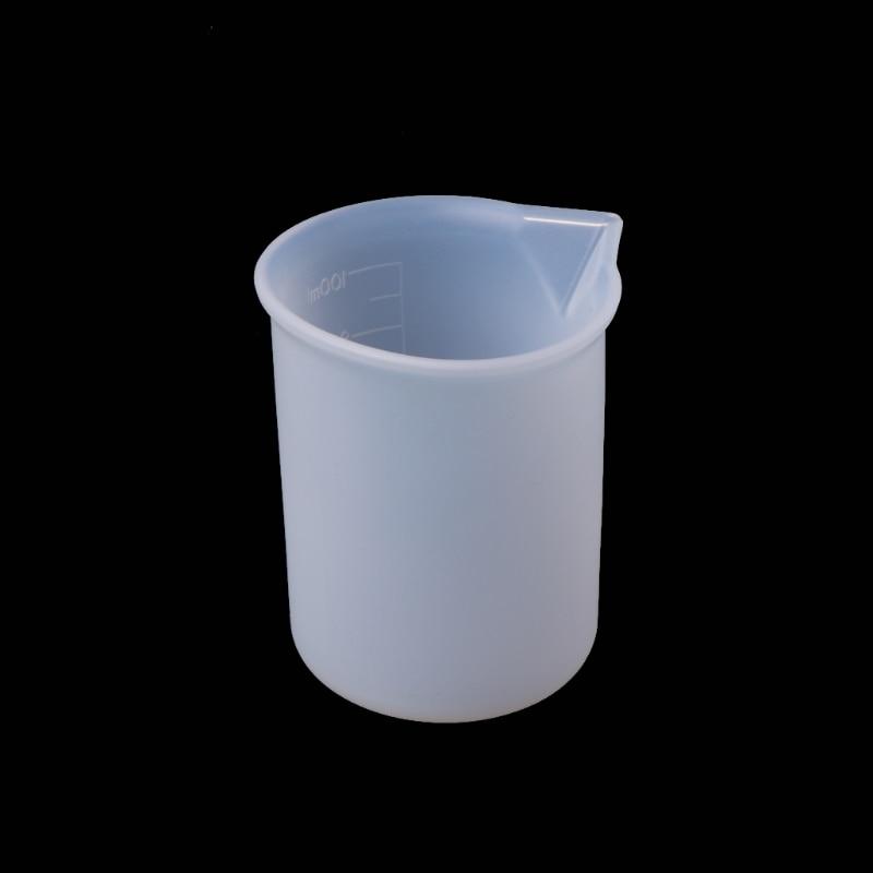 Taza de medición de silicona herramientas de pegamento de resina joyería hecha a mano artesanía DIY