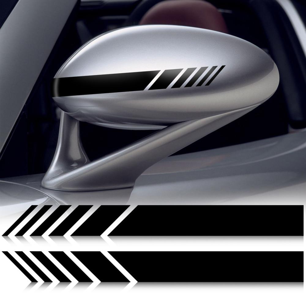 Pegatinas de vinilo para coche espejo retrovisor con estilo para zafira a tucson xc60 fiat bravo 2 audi a5 peugeot 3008 suzuki sx4 amg