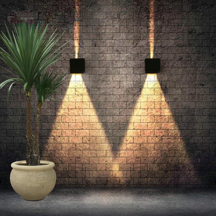 مصباح جداري LED حديث ، مقاوم للماء وفقًا لمعيار IP65 ، 7 واط ، 12 واط ، خارجي ، 220 فولت ، 110 فولت ، ديكور ، مصباح حائط قابل للتعديل