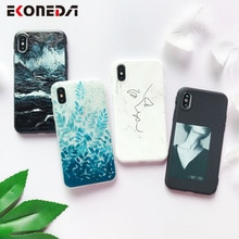 EKONEDA souple étui pour iPhone téléphone 6S étui Silicone noir Simple gommage couverture arrière pour iPhone 7 6 8 XR XS Max 11 Pro Max étui