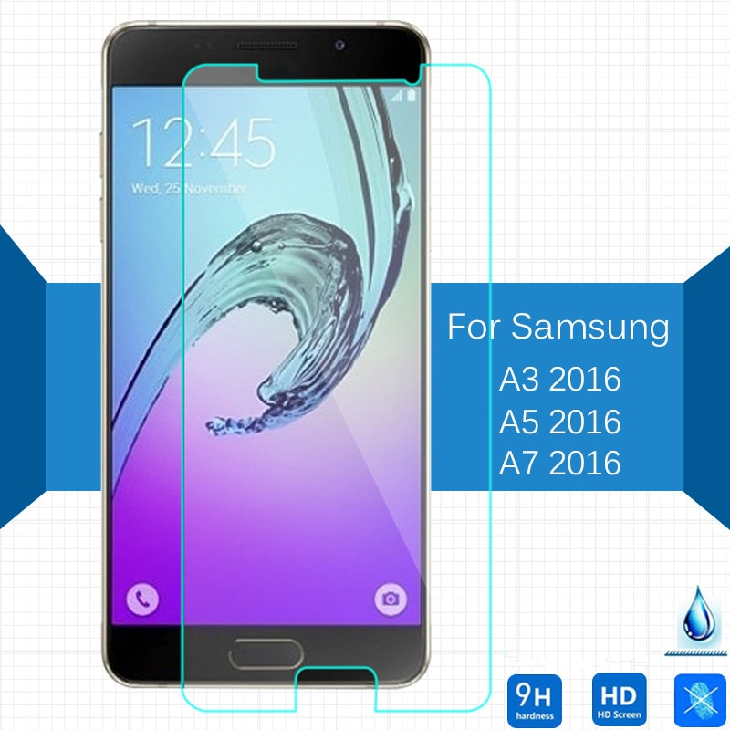 9H Tempered Glass Screen Protector for Samsung Galaxy A3 A5 A7 2016 A3100 A5100 A7100 Protective Fil