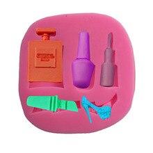 Offre spéciale outils de maquillage bouteille de parfum rouge à lèvres   Vernis à ongles, talons hauts, motif forme Silicone, gâteau Cupcake savon, moule en argile