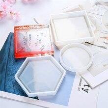 Nuevo molde DIY posavasos de silicona Flexible, molde de resina epoxi, molde de arcilla para artesanías, moldes de resina, accesorios para hacer joyas