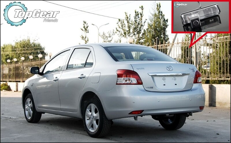Cámara de coche para TOYOTA Belta Vios Yaris Sedan XP90 MK2 2007 ~ 2013 cámara trasera de alta calidad para TopGear Friends   RCA
