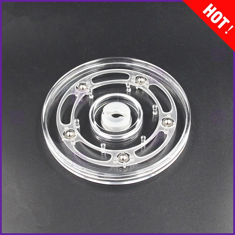 manual plastic turntable 20cm 8 inch rotating base acrylic transparent photo frame display stand three dimension accessories 4inch Transparent acrylic rotary  turntable display swivel plate furniture parts rack rotating base swivel plate