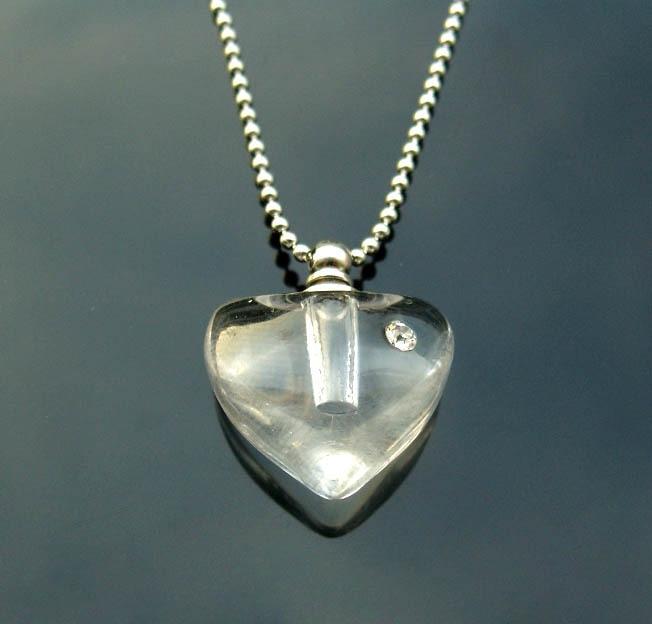 25pcs/lot lucency Almond heart Rice vials pendants  rice vial pendant perfume empty glass bottle glass spray perfume bottle