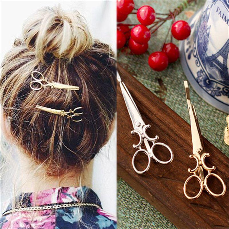 Creativo tijeras forma de señora de las mujeres pelo Clip horquilla delicada pelo horquilla accesorios para el cabello decoraciones