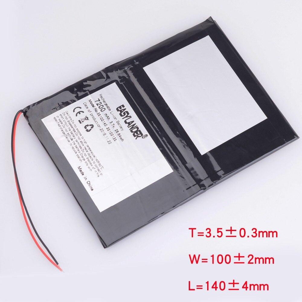33100140 Universal For Digma optima 10.6 3G TT1006MG  For irbis tz172 Tablet Battery 7200mAh 3.7V Polymer li-ion battery