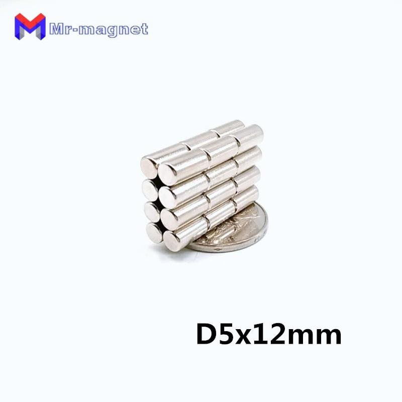 50 Uds. De diámetro 5x12mm imán súper fuerte 5x12 N35 imán permanente 5mm x 12mm imán potente 5*12