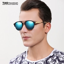 2019 TAG Hezekiah Brand designer polarized sunglasses Import plate wood grain sunglasses women men R