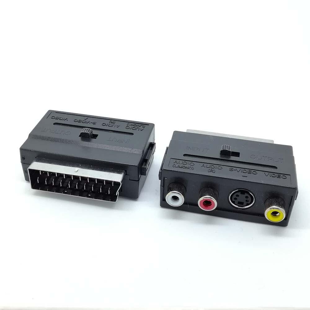 Nuevo adaptador de entrada/salida de Audio RGB Premium a 3 RCA Phono + s-video