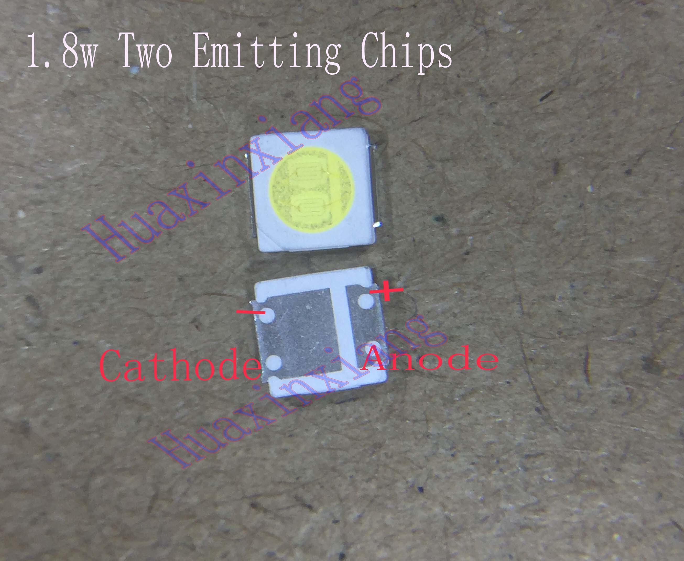 500pcs/Lot SMD LED 3030 3V 1.8W Cold white High Power For TV Backlight Application 3.0*3.0*0.6mm