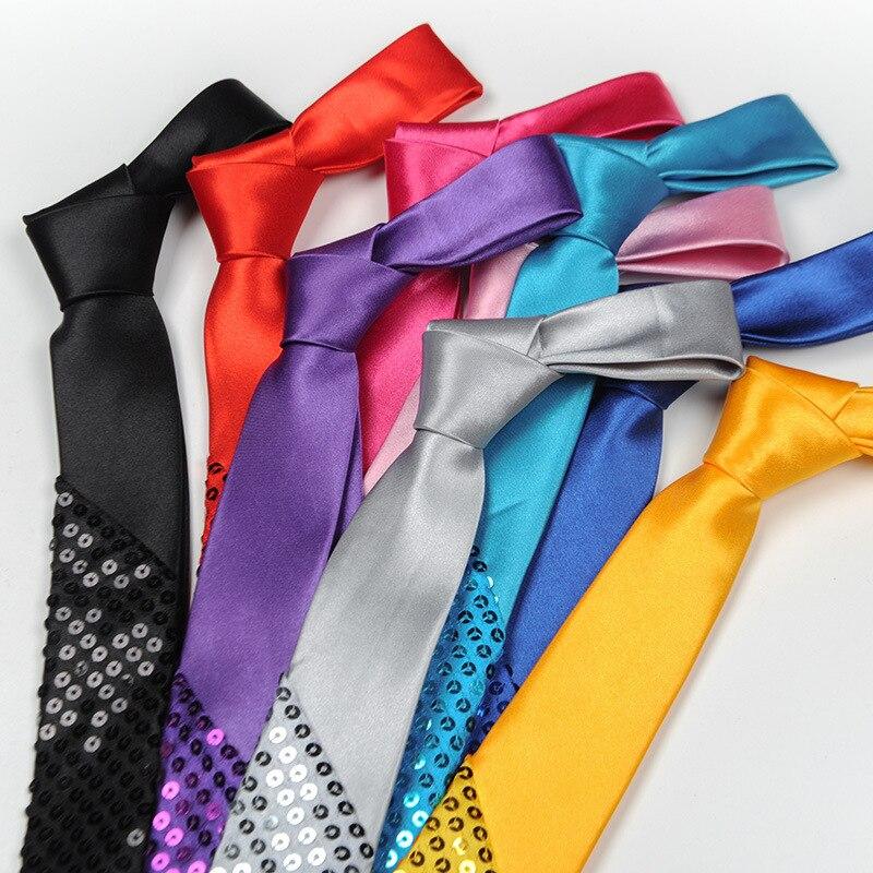 Corbata de lentejuelas espectáculo De Magia de escenario para fiesta de boda para hombre y mujer