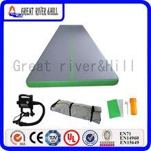 Meilleur prix équipe gonflable tumbling air piste air plancher gym équipement de fitness avec pompe gratuite 8 m x 1.5 m x 0.1 m