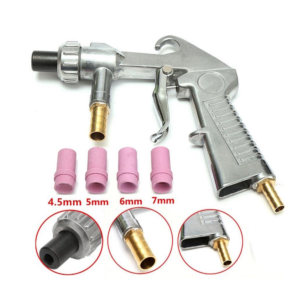 Pistola de chorro de arena abrasiva con 4 Uds. De boquillas de cerámica, boquillas de chorro de aire para chorro de aire, boquillas de cerámica