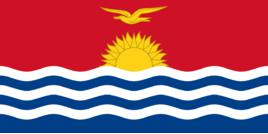 Kiribati bandeiras atacado lote de 10 pces poliéster nacional banner150 * 90cm 3ft x 5ft em todo o mundo ao ar livre