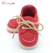 WEIXINBUY-baskets bleues bébé garçon fille   Chaussures de berceau à semelle souple, taille de naissance à 18 mois